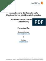 Install & Secure Windows Server 2016 Domain Controller.pdf