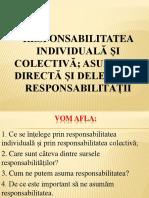 Responsabilitatea Individuala Si Colectiva