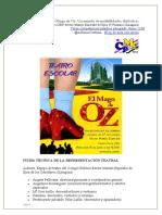 Teatro Escolar. Mago de Oz. Junio 16. Para Martín Pinos (DGA. Folleto)