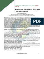 Design for Environmental Excellence a Hybrid Reverse Osmosis