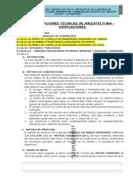 ESPECIFICACIONES TÉCNICAS DE ARQUITECTURA EDIFICACIONES.doc