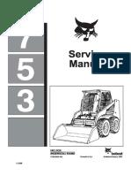 Bobcat 753 Skid Steer Loader Service Repair Manual (Before 1990)