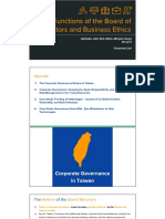 Functions of the Board of Directors and Business Ethics.