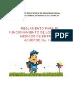 Acuerdo 1404 Reglamento Servicios Médicos de Empresas