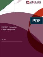 PRINCE2 2017 Foundation Syllabus