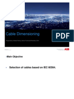 Cable Dimensioning