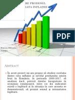 Corelația dintre produsul intern brut și rata inflației.pptx