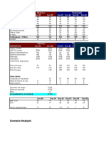 Ejemplo Didactico Cash Flow y Valuacion Por DCF Con Escenarios