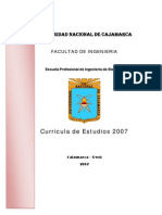 Curricula de Estudios 2007 Escuela Academico Profesional de Sistemas Unc