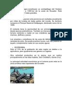 Las Islas Galápagos-recursos Naturales