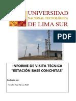 Informe de Visita Tecnica Estación Base Conchitas