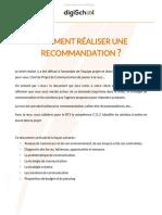 Communication Comment rédiger une recommandation