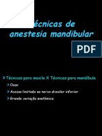 Técnicas de anestesia mandibular