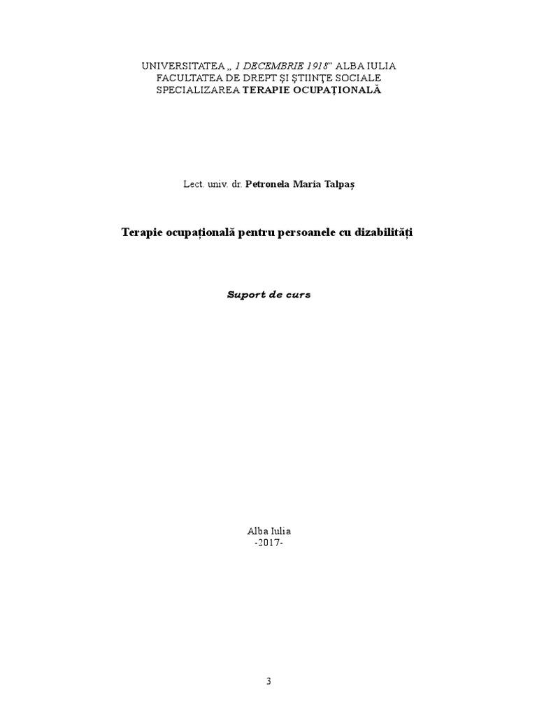 (DOC) Terapia Ocupationala si Ergoterapia | Ramona Ramo - formatiaoccident.ro