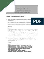 Networking Sample Exam Questions Marking Scheme - 2003-4 Semester 2