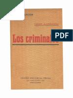 1876 - Cesare Lombroso - Los Criminales