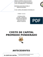 Costo de Capital Promedio Ponderado Final