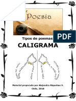 Tipos de poemas. Caligrama - Alejandra Riquelme.