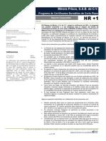 Informe financiero de Minera Frisco 2017
