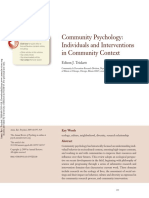 Trickett, Edison J. -- Community Psychology- Individuals and Interventions in Community Context