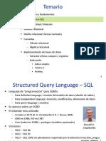 Estructuras de datos. SQL