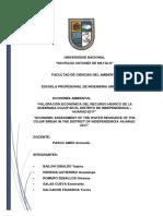 Valoración Económica Del Recurso Hídrico de La Quebrada Cojup en El Distrito de Independencia