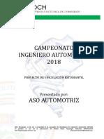Campeonato Ingeniero Automotriz Formato