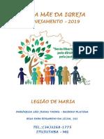 LEGIÃO de MARIA - Planejamento 2019