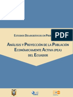 Analisis y Proyeccion de La Poblacion Economicamente Activa (PEA) Del Ecuador