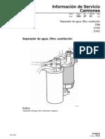 23.D12D. Separador de Agua, Filtro, Sustitución