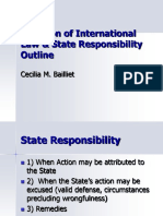 Violation of International Law State Responsibility Outline