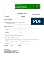 Application Form PE