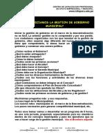 0.0 Inicio de La Gestion Municipalidades