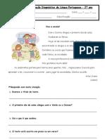 Avaliação diagnóstical de Língua Portuguesa 2.º ano 2008 2009