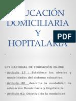 Educación Domiciliaria y Hopitalaria