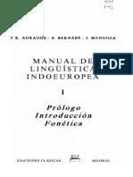 Manual de Linguistica Indoeuropea-Tomo1
