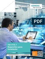 TIA V15.1 Requisitos para instalação