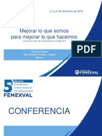 conferencias FEMEXVAL