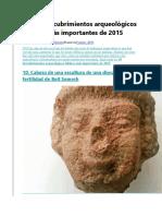 Los 10 Descubrimientos Arqueológicos Bíblicos Más Importantes de 2015