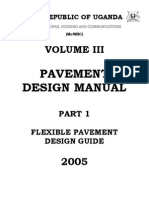 Flexible Pavement Design Manual, Part I First Part