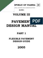 Flexible Pavement Design Manual, Part I First Part