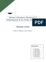 Informe Laboratorio 2 Biología