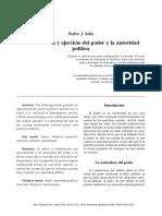 La naturaleza y ejercicio del poder y la autoridad política by Pedro J. Solís.pdf