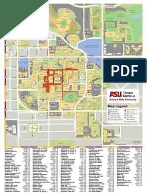 asu map tempe campus Asu Map Tempe Current Arizona State University Sports asu map tempe campus