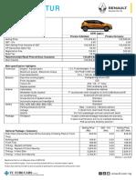 Renault Captur Pricelist2018