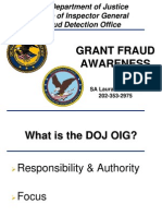 DOJ - Inspector General - Grant Fraud Awareness