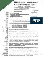 Carta CENAJUPE Nº 001 a Presidente Martín Vizcarra