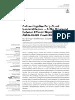 Sepsis Precoz Con Cultivo Negativo - Frontiers