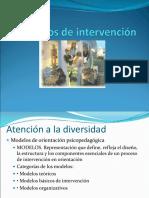 Modelos de Intervención y Orientación Psicopedagógica (1)