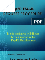 DepED Email Request Procedure